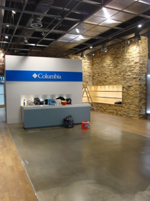 ремонт магазин Columbia