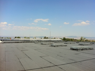 Покриви хидроизолация с посипка