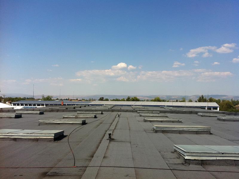 Снимка на покрив с посипка